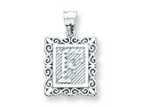 Sterling Silver Initial F Charm style: QC2770F
