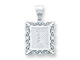 Sterling Silver Initial I Charm style: QC2770I