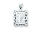 Sterling Silver Initial L Charm style: QC2770L