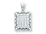 Sterling Silver Initial M Charm style: QC2770M