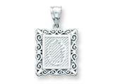Sterling Silver Initial O Charm style: QC2770O