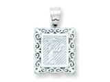 Sterling Silver Initial P Charm style: QC2770P