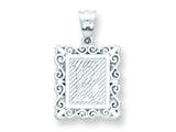 Sterling Silver Initial R Charm style: QC2770R