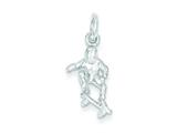 Sterling Silver Skateboarder Charm style: QC2792