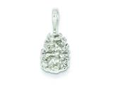 Sterling Silver Pinecone Charm style: QC2803