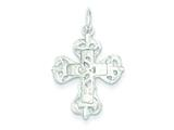 Sterling Silver Diamond-cut Cross Charm style: QC2852