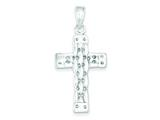 Sterling Silver Polished Cross Pendant - Chain Included style: QC2898