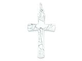 Sterling Silver Crucifix Pendant - Chain Included style: QC2918