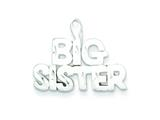 Sterling Silver Big Sister Charm style: QC3078