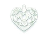 Sterling Silver Mom Heart W/ Flowers Charm style: QC3080