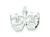 Sterling Silver Comedy/tragedy Charm style: QC3093