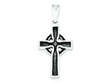 Sterling Silver Antiqued Iona Cross Pendant - Chain Included style: QC3365