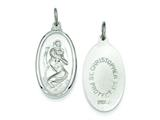 Sterling Silver St. Christopher Medal Pendant - Chain Included style: QC3564