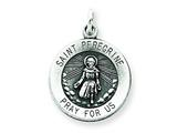 Sterling Silver St. Peregrine Medal Pendant - Chain Included style: QC3617