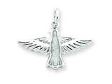 Sterling Silver Enameled Holy Spirit Charm style: QC3642