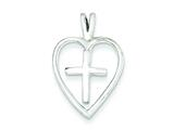 Sterling Silver Cross Pendant - Chain Included style: QC3652