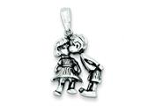 Sterling Silver Antiqued Boy Kissing Girl Charm style: QC3702