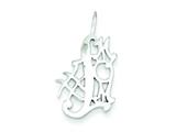 Sterling Silver #1 Mom Charm style: QC3737