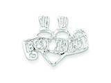 Sterling Silver Best Friend Break Apart Charm style: QC3746