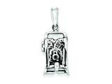 Sterling Silver Antiqued Camera Charm style: QC3770
