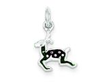 Sterling Silver Enameled Reindeer Charm style: QC3787