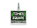 Sterling Silver Times Square Charm style: QC3854
