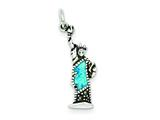 Sterling Silver Enameled Statue Of Liberty Charm style: QC3858