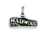 Sterling Silver Green Enameled Hollywood Charm style: QC3860