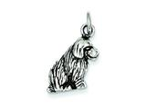 Sterling Silver Dog Charm style: QC4091