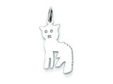 Sterling Silver Cat Charm style: QC4114