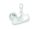 Sterling Silver Soccer Ball/shoe Charm style: QC4140