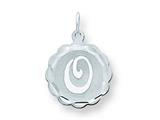 Sterling Silver Brocaded Initial ``o`` Charm style: QC4161O