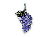 Sterling Silver Enameled Purple Grape Charm style: QC4168