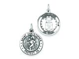 Sterling Silver St.christopher Us Air Force Medal Pendant - Chain Included style: QC4405