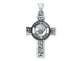 Sterling Silver Us Marine Corp Cross Pendant Necklace - Chain Included style: QC4406