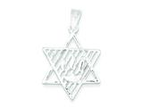 Sterling Silver Star Of David and Shin Pendant - Chain Included style: QC4441