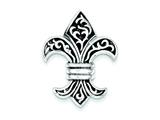 Sterling Silver Fleur De Lis Pendant - Chain Included style: QC4500