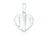 Sterling Silver Heart Charm style: QC4563