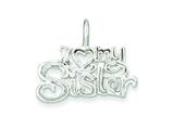 Sterling Silver I (heart) My Sister Pendant - Chain Included style: QC4580