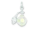 Sterling Silver Perfume Bottle Charm style: QC4679