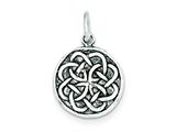 Sterling Silver Antiqued Celtic Knot Charm style: QC4715