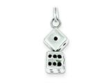 Sterling Silver Dice Charm style: QC4729