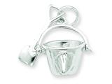 Sterling Silver Shovel And Pail Charm style: QC4860