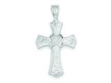 Sterling Silver Cross Pendant - Chain Included style: QC490