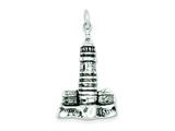 Sterling Silver Antiqued Lighthouse Pendant - Chain Included style: QC4932