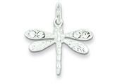 Sterling Silver Preciosa Austrian Crystal Dragonfly Charm style: QC4994