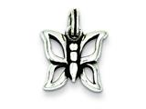 Sterling Silver Butterfly Charm style: QC4996