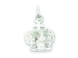 Sterling Silver Crown Charm style: QC5063