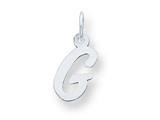 Sterling Silver Small Script Initial G Charm style: QC5080G