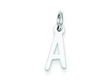 Sterling Silver Small Slanted Block Initial A Charm style: QC5081A